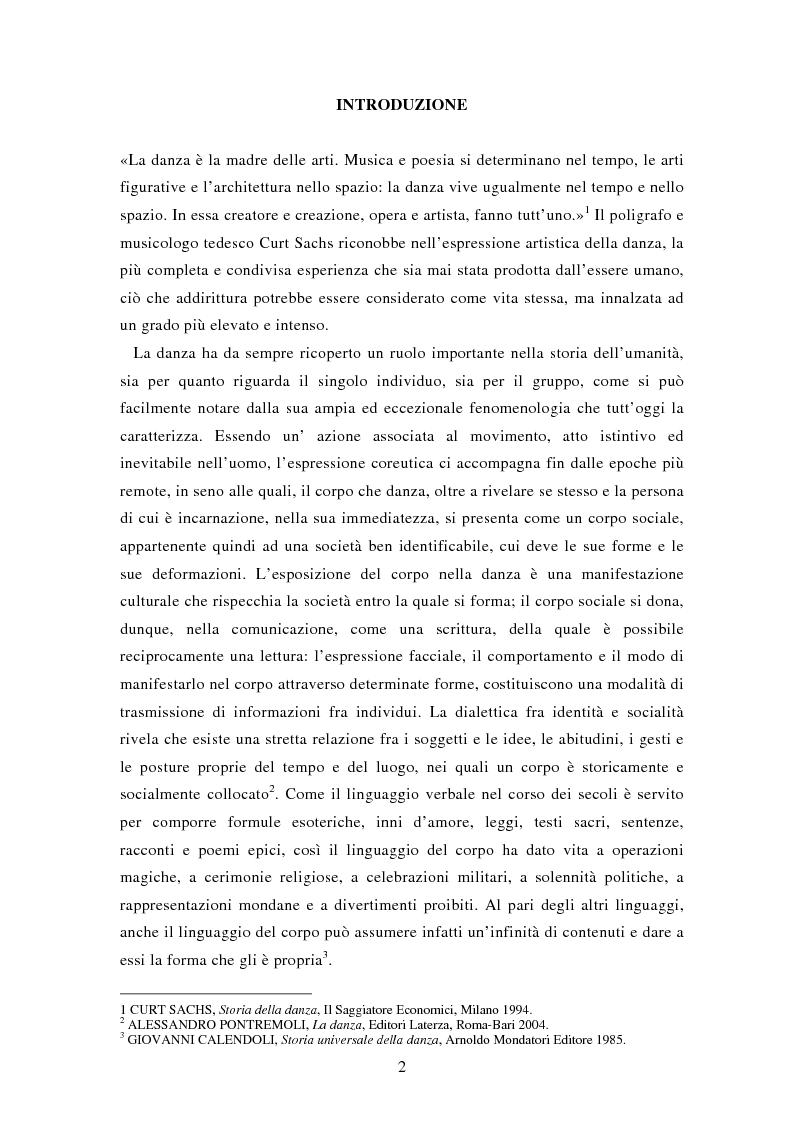 Anteprima della tesi: In viaggio con Ulisse. La realizzazione di uno spettacolo d'arte coreografica di Fabrizio Monteverde, Pagina 1