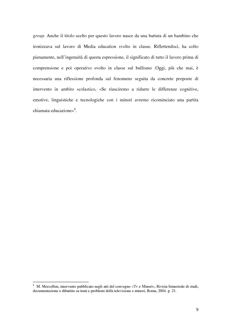 Anteprima della tesi: Chi media i bulli. Bullismo e devianza: analisi e ricerca., Pagina 6