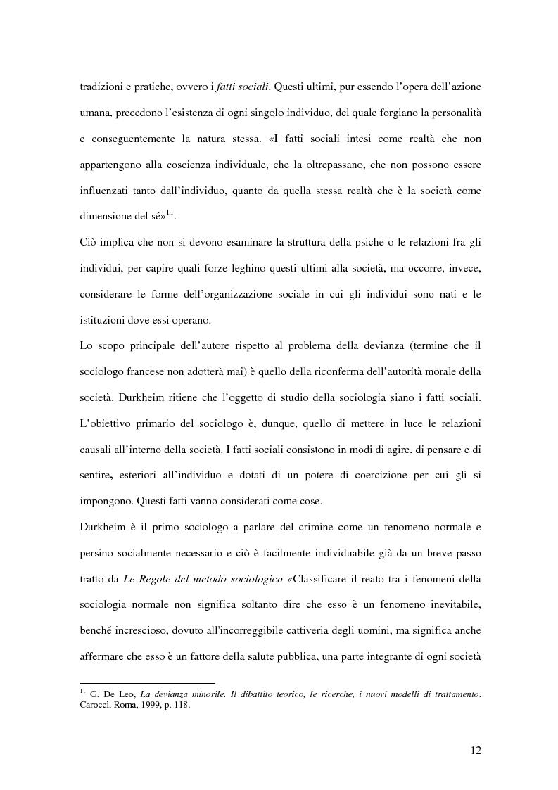 Anteprima della tesi: Chi media i bulli. Bullismo e devianza: analisi e ricerca., Pagina 9