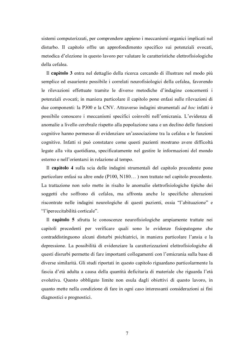 Anteprima della tesi: Aspetti neurofisiologici e correlati psicologici della cefalea in età evolutiva, Pagina 3