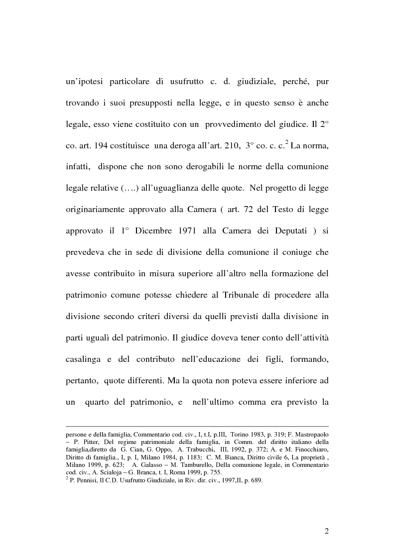 Anteprima della tesi: L' Usufrutto Giudiziale, Pagina 2