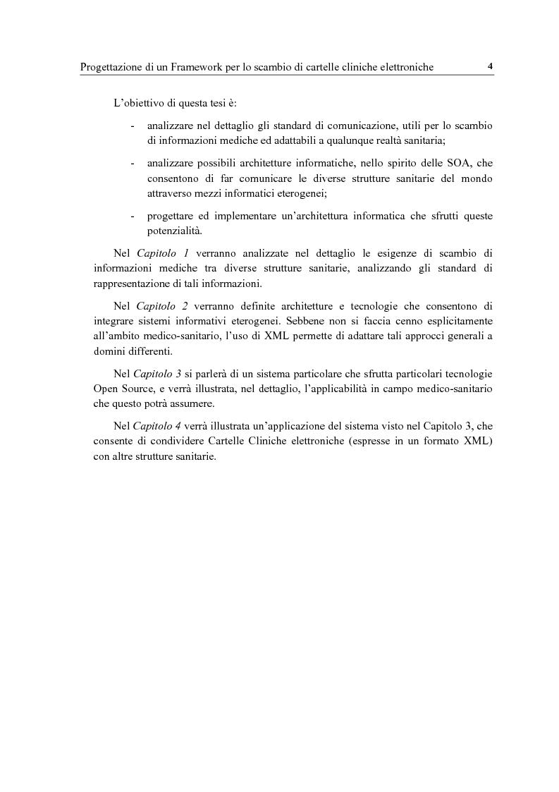 Anteprima della tesi: Progettazione di un framework per lo scambio di cartelle cliniche elettroniche in campo medico-sanitario, Pagina 2