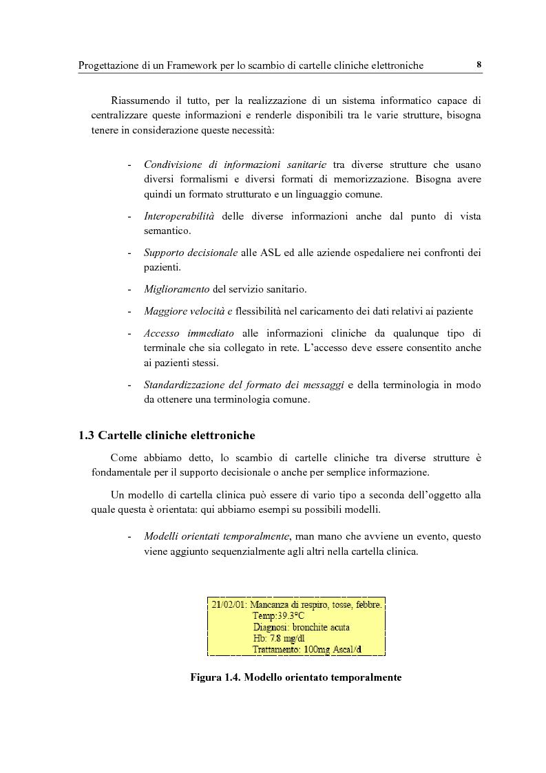Anteprima della tesi: Progettazione di un framework per lo scambio di cartelle cliniche elettroniche in campo medico-sanitario, Pagina 6