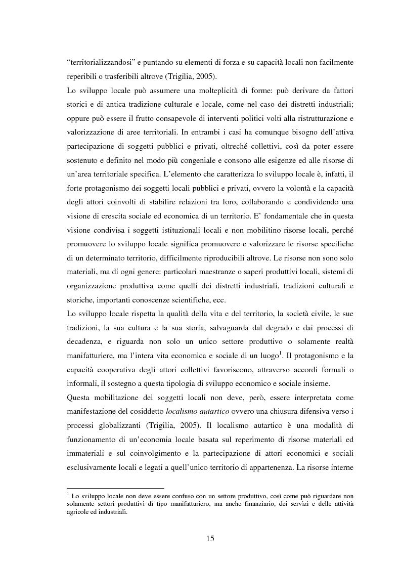Anteprima della tesi: Università e Sviluppo Locale: il caso del Polo Universitario ''Città di Prato'', Pagina 11