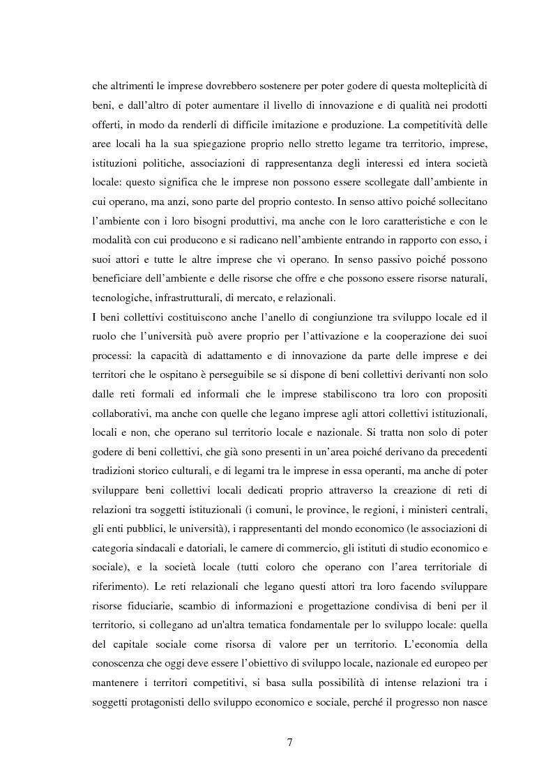 Anteprima della tesi: Università e Sviluppo Locale: il caso del Polo Universitario ''Città di Prato'', Pagina 3