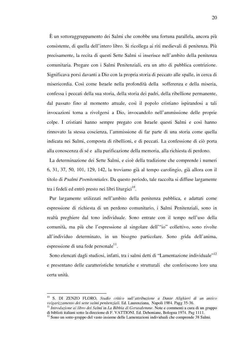 Anteprima della tesi: Volgarizzamenti dei Salmi Penitenziali. Il Salmo VI, Pagina 15