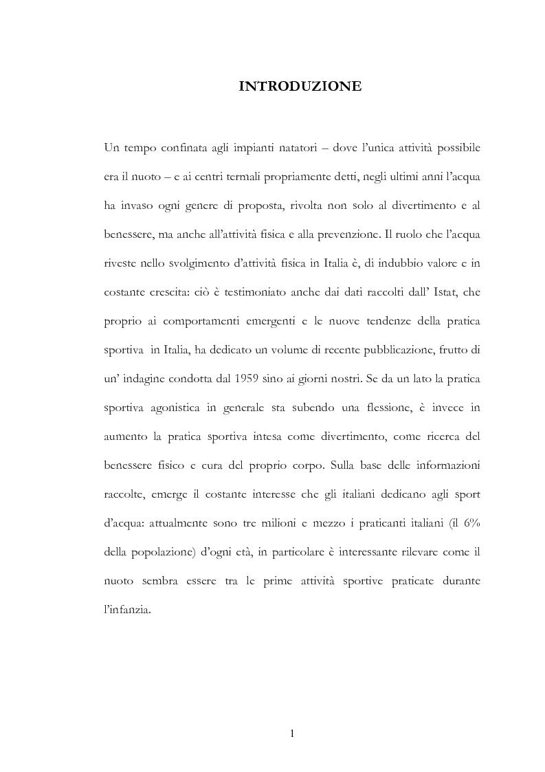 Anteprima della tesi: Il mercato delle piscine e del wellness. Il Salone Mondiale di Lyon ''Piscine 2006''., Pagina 1