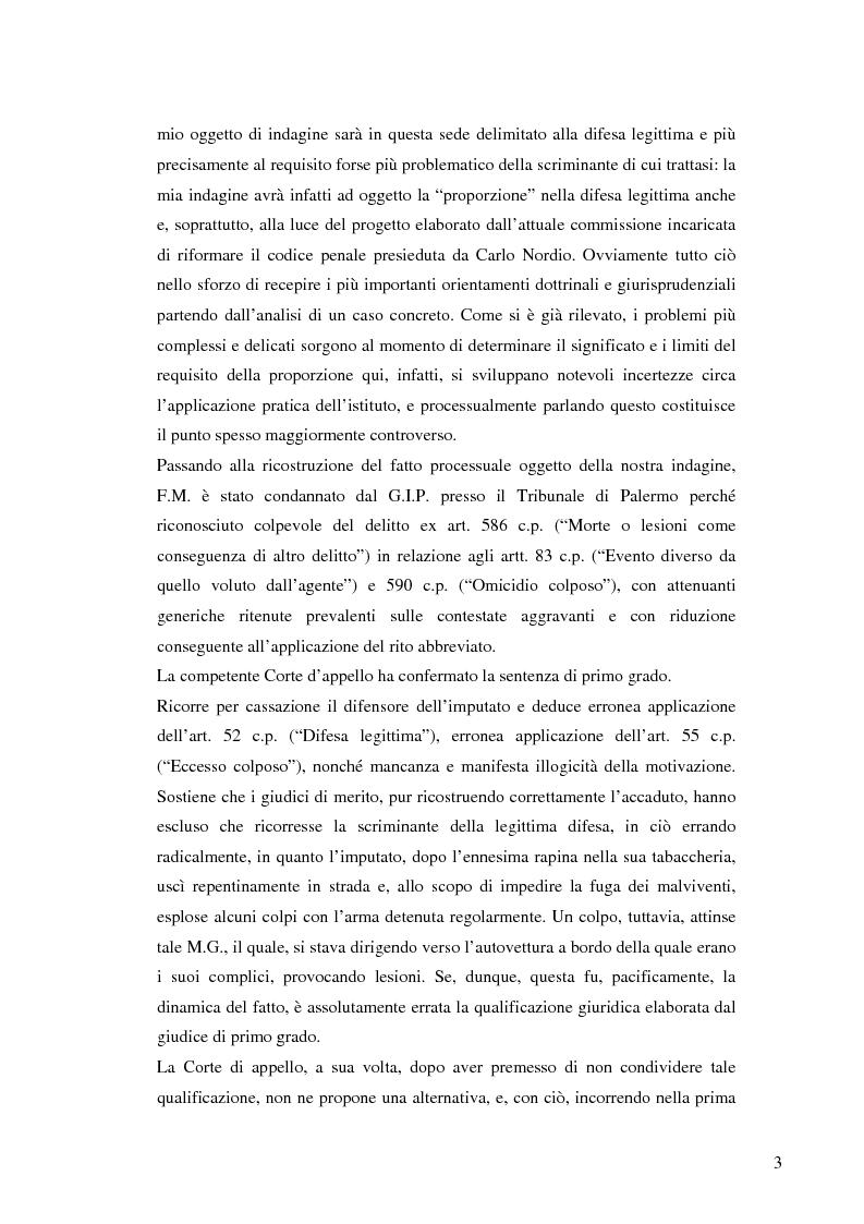 Anteprima della tesi: La legittima difesa nel progetto elaborato dalla commissione Nordio, Pagina 3