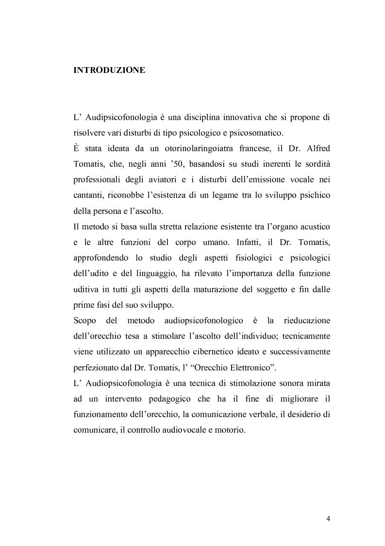 Anteprima della tesi: Il metodo Tomatis: embriogenesi dell'organo dell'udito e delle basi del linguaggio, Pagina 2