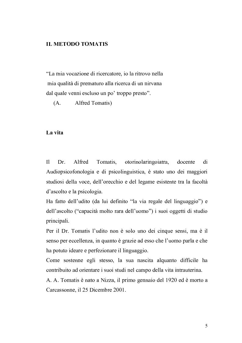 Anteprima della tesi: Il metodo Tomatis: embriogenesi dell'organo dell'udito e delle basi del linguaggio, Pagina 3