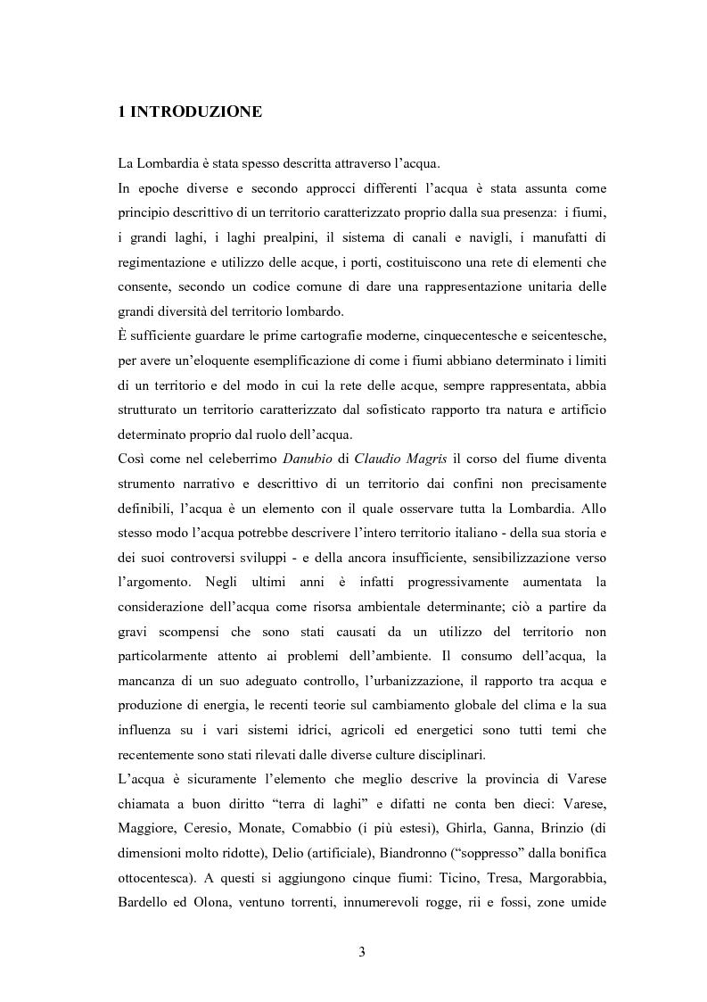 Anteprima della tesi: Il cambiamento di copertura del suolo e del clima sulla risposta idrologica del bacino dell'Olona, Pagina 1