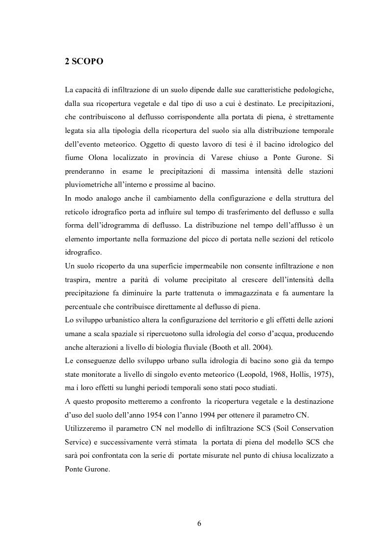 Anteprima della tesi: Il cambiamento di copertura del suolo e del clima sulla risposta idrologica del bacino dell'Olona, Pagina 4