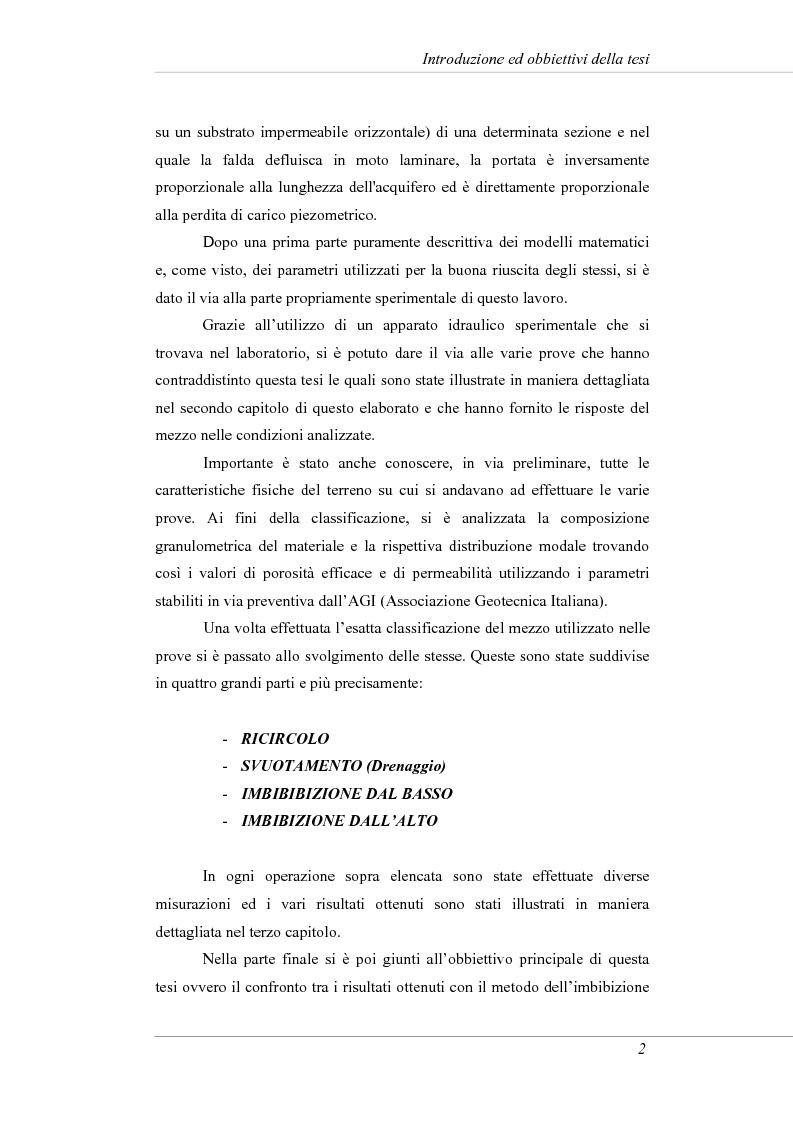 Anteprima della tesi: Modelli e prove d'infiltrazione in laboratorio a scala grande, Pagina 2