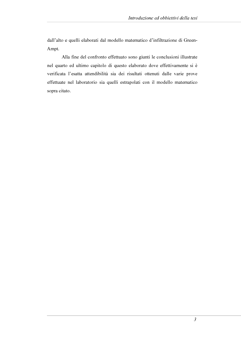 Anteprima della tesi: Modelli e prove d'infiltrazione in laboratorio a scala grande, Pagina 3