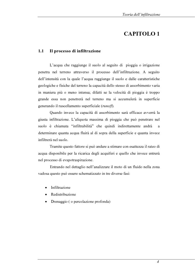 Anteprima della tesi: Modelli e prove d'infiltrazione in laboratorio a scala grande, Pagina 4