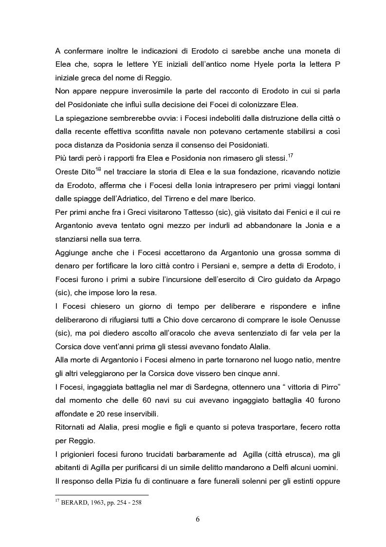 Anteprima della tesi: Velia: un secolo di ricerche, Pagina 6