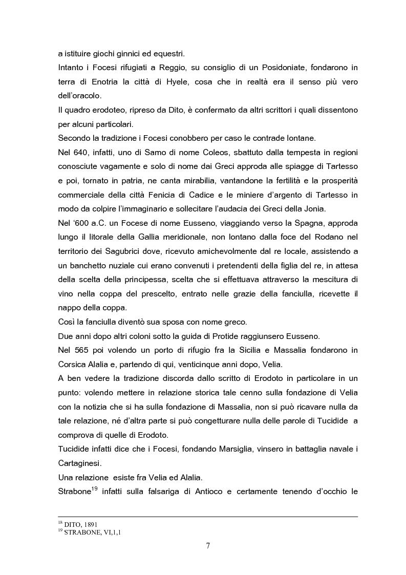 Anteprima della tesi: Velia: un secolo di ricerche, Pagina 7