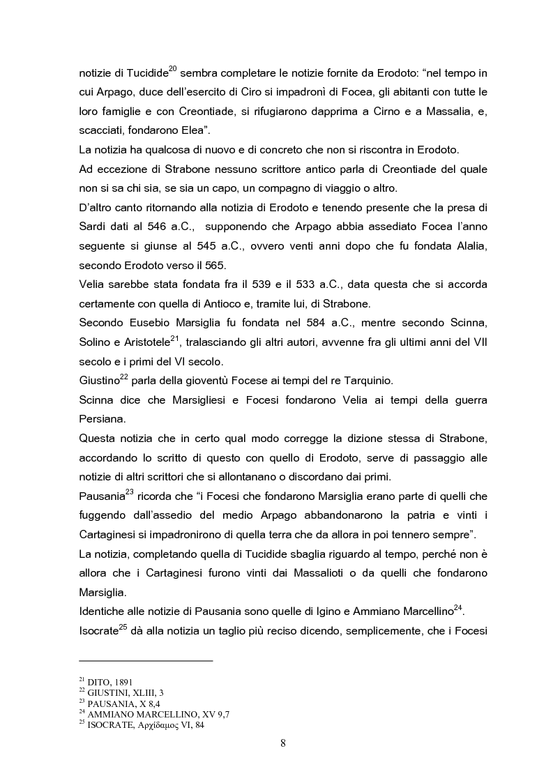Anteprima della tesi: Velia: un secolo di ricerche, Pagina 8