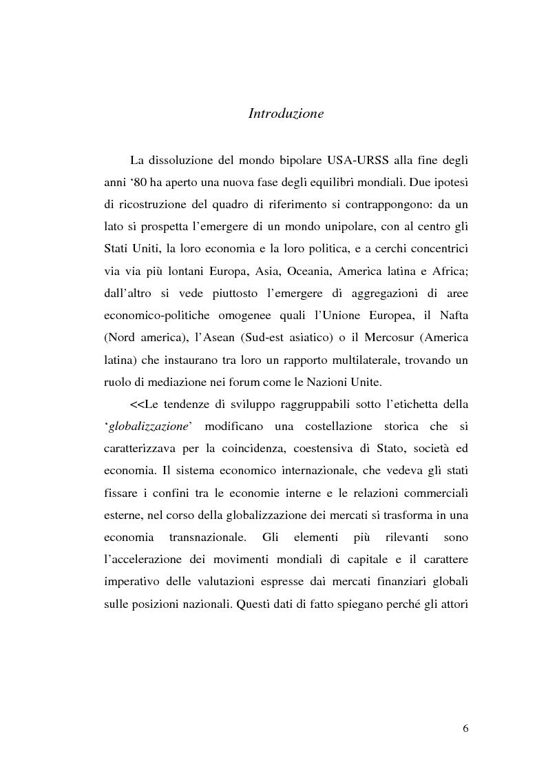 Anteprima della tesi: Tra governance globale ed europea: Gli effetti sullo Stato costituzionale democratico, Pagina 1