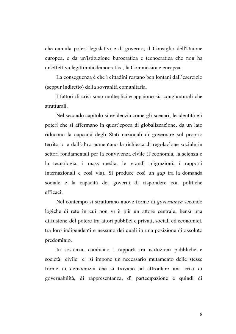 Anteprima della tesi: Tra governance globale ed europea: Gli effetti sullo Stato costituzionale democratico, Pagina 3