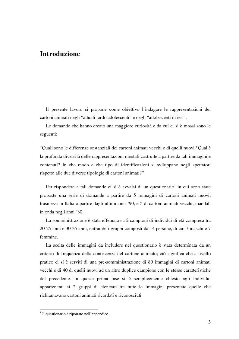 Anteprima della tesi: Il cartone animato: un approccio psicodinamico, Pagina 1