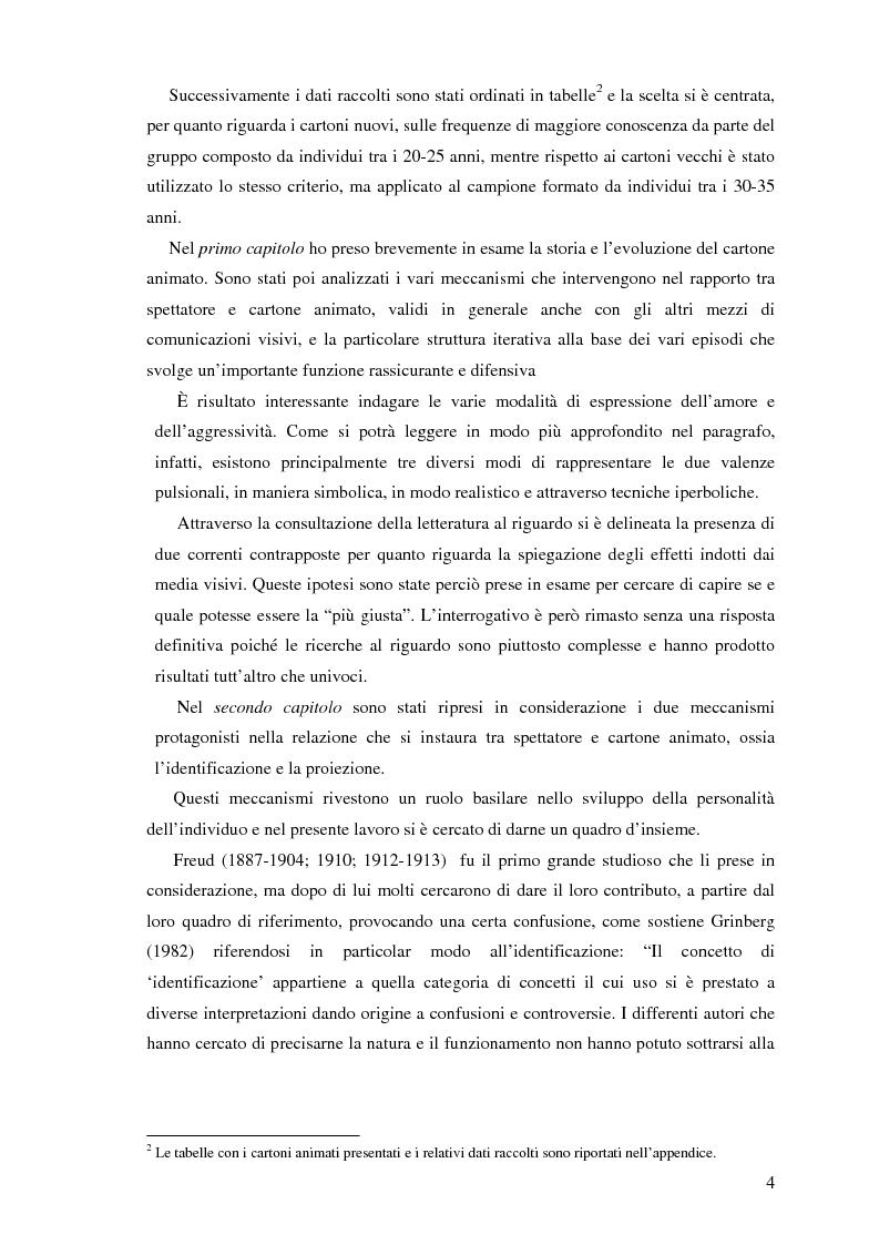 Anteprima della tesi: Il cartone animato: un approccio psicodinamico, Pagina 2