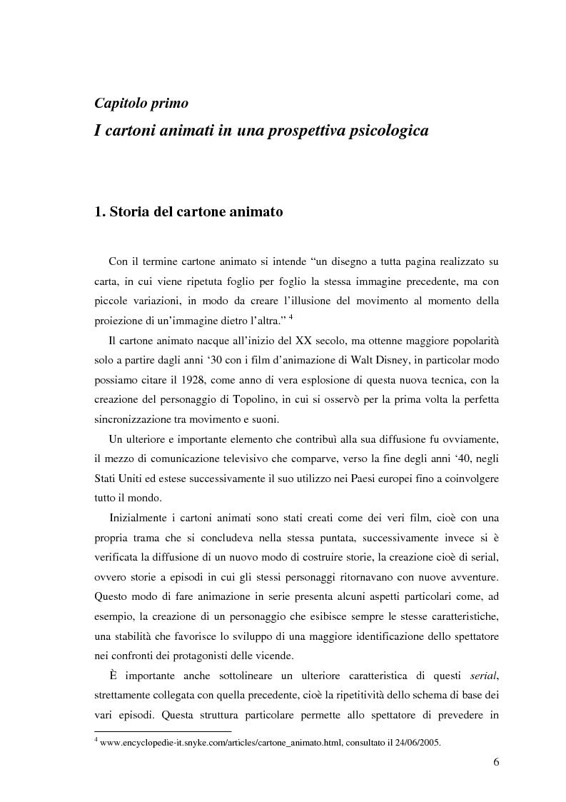 Anteprima della tesi: Il cartone animato: un approccio psicodinamico, Pagina 4