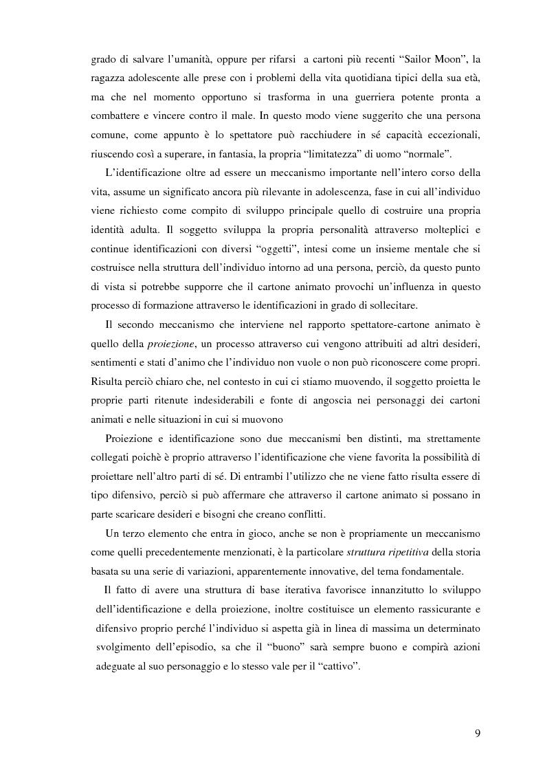 Anteprima della tesi: Il cartone animato: un approccio psicodinamico, Pagina 7