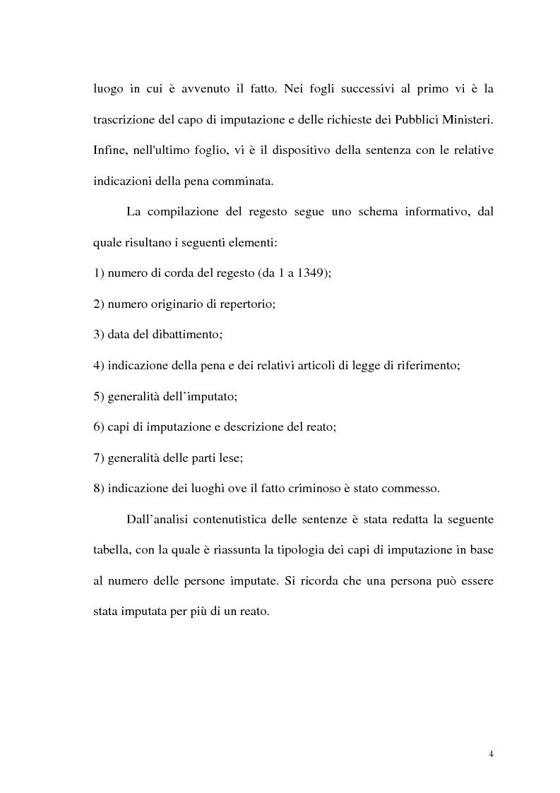 Anteprima della tesi: Processi e reati a Cosenza nella Grande Guerra: 1915-1918 - Regesti delle Sentenze, Pagina 2