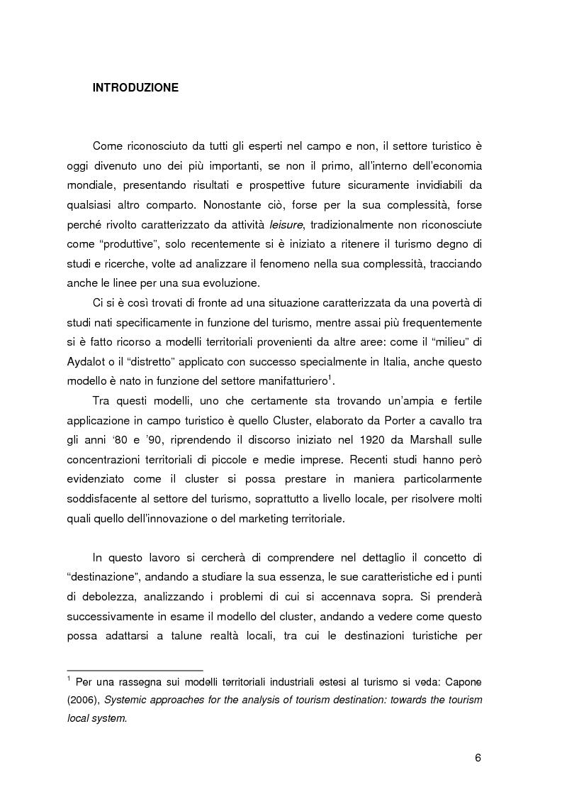 Anteprima della tesi: Destinazione e Cluster Turistici: un'applicazione all'Oasi egiziana di Siwa, Pagina 1