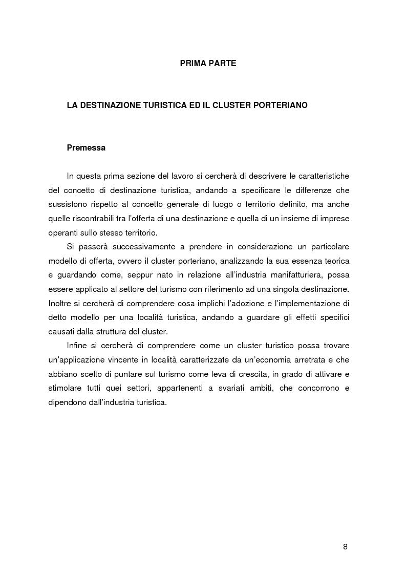 Anteprima della tesi: Destinazione e Cluster Turistici: un'applicazione all'Oasi egiziana di Siwa, Pagina 3