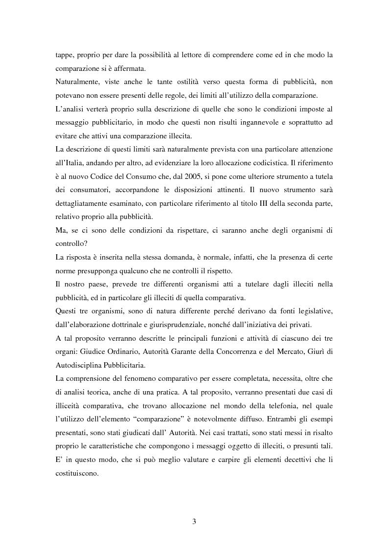 Anteprima della tesi: La pubblicità comparativa tra concorrenza e tutela del consumatore, Pagina 2