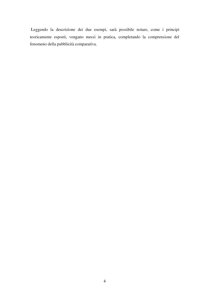 Anteprima della tesi: La pubblicità comparativa tra concorrenza e tutela del consumatore, Pagina 3