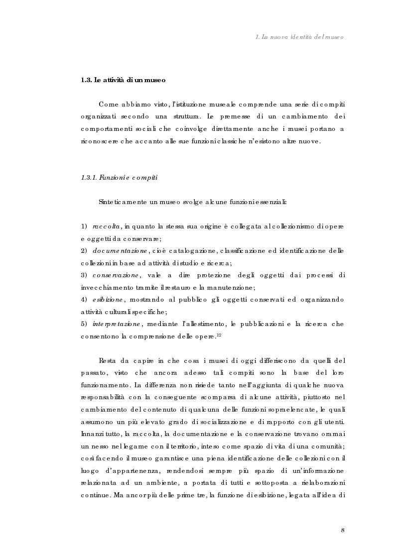 Anteprima della tesi: Design nel museo. Strategie di merchandising, Pagina 11