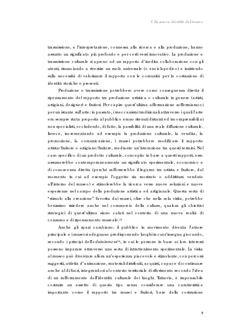 Anteprima della tesi: Design nel museo. Strategie di merchandising, Pagina 12