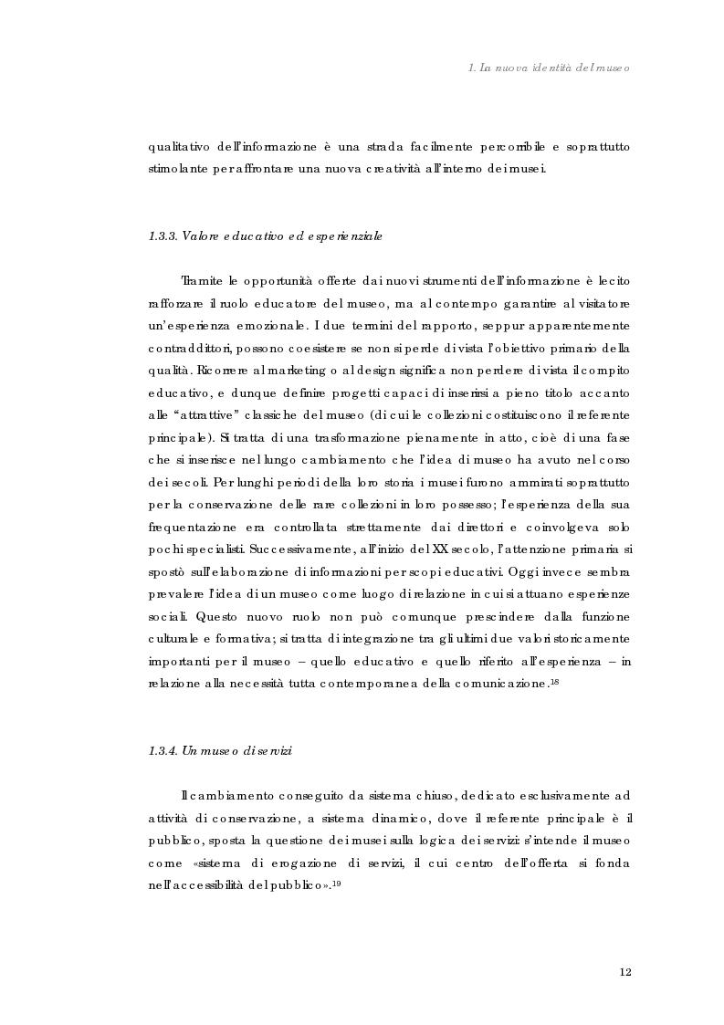 Anteprima della tesi: Design nel museo. Strategie di merchandising, Pagina 15