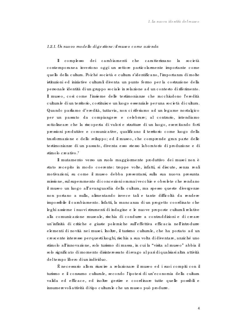 Anteprima della tesi: Design nel museo. Strategie di merchandising, Pagina 7