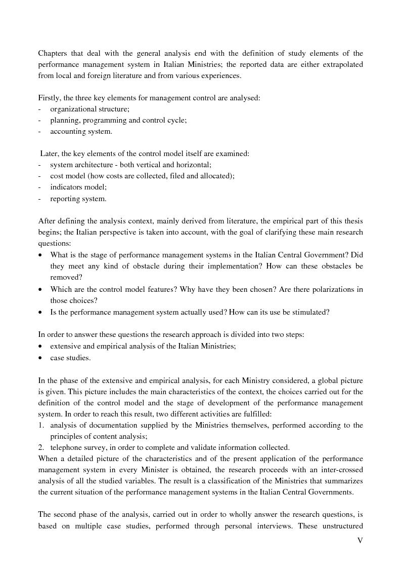 Anteprima della tesi: I sistemi di controllo di gestione nelle amministrazioni centrali, Pagina 1