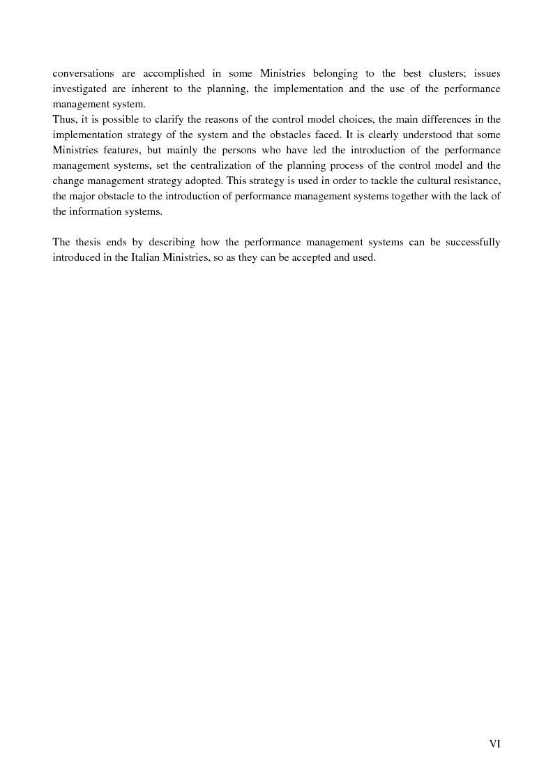 Anteprima della tesi: I sistemi di controllo di gestione nelle amministrazioni centrali, Pagina 2