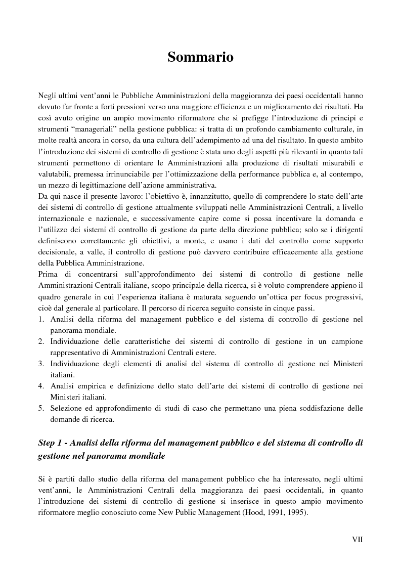 Anteprima della tesi: I sistemi di controllo di gestione nelle amministrazioni centrali, Pagina 3