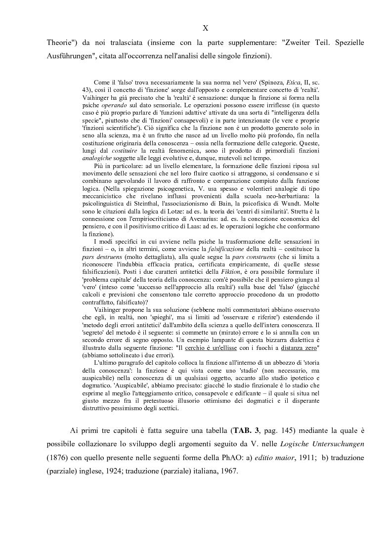 Anteprima della tesi: Hans Vaihinger (1852-1933) e la 'Philosophie des Als Ob'. Studio storico-genetico, critico e bibliografico sulla teoria finzionistica della conoscenza, Pagina 10