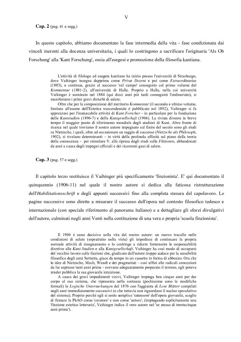Anteprima della tesi: Hans Vaihinger (1852-1933) e la 'Philosophie des Als Ob'. Studio storico-genetico, critico e bibliografico sulla teoria finzionistica della conoscenza, Pagina 5