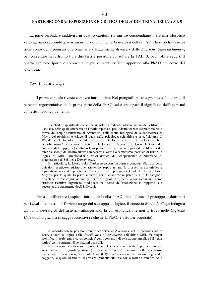 Anteprima della tesi: Hans Vaihinger (1852-1933) e la 'Philosophie des Als Ob'. Studio storico-genetico, critico e bibliografico sulla teoria finzionistica della conoscenza, Pagina 7