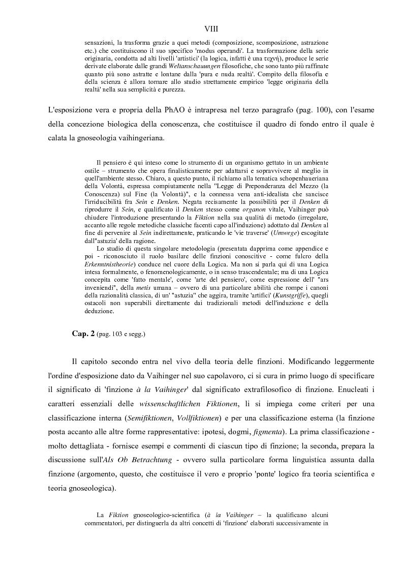 Anteprima della tesi: Hans Vaihinger (1852-1933) e la 'Philosophie des Als Ob'. Studio storico-genetico, critico e bibliografico sulla teoria finzionistica della conoscenza, Pagina 8