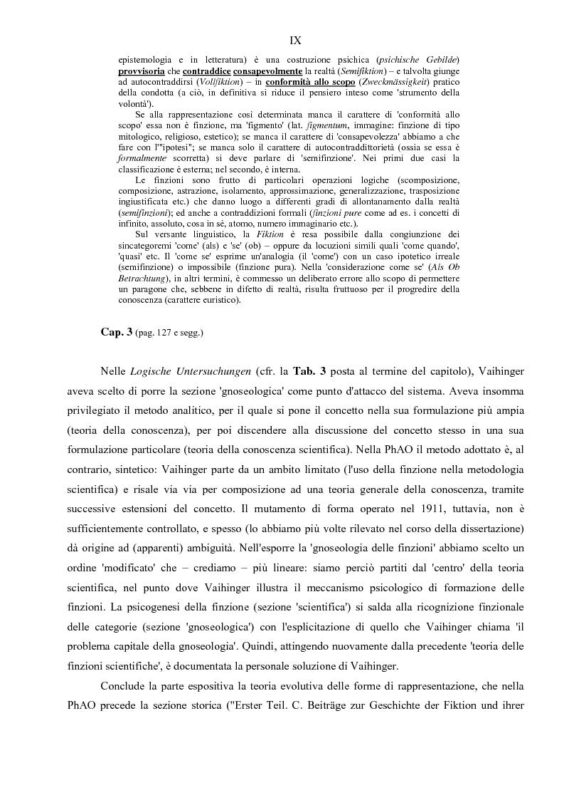 Anteprima della tesi: Hans Vaihinger (1852-1933) e la 'Philosophie des Als Ob'. Studio storico-genetico, critico e bibliografico sulla teoria finzionistica della conoscenza, Pagina 9