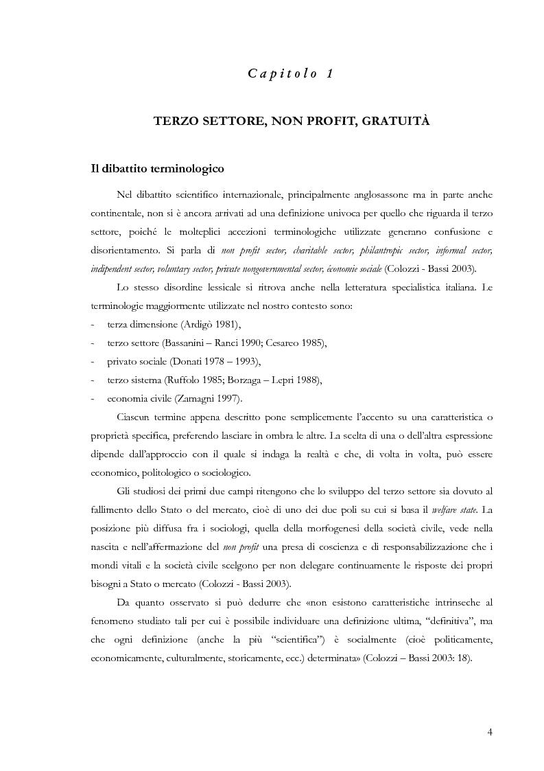 Anteprima della tesi: Comunicare la gratuità. Il caso dell'Opera di San Francesco e del Banco Alimentare, Pagina 3