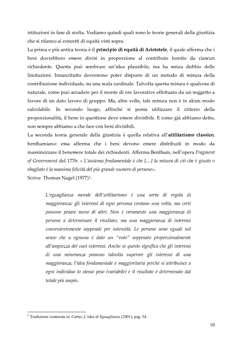 Anteprima della tesi: L'allocazione delle risorse economiche e il problema dell'equità in ambito sanitario: un'indagine sul comportamento del personale medico, Pagina 10