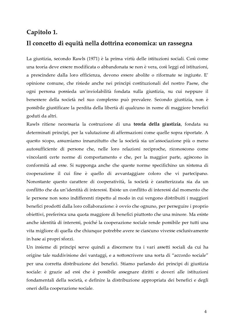 Anteprima della tesi: L'allocazione delle risorse economiche e il problema dell'equità in ambito sanitario: un'indagine sul comportamento del personale medico, Pagina 4