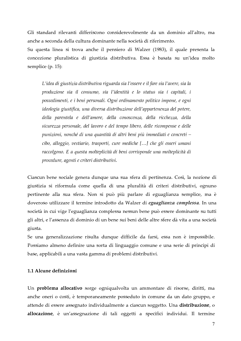 Anteprima della tesi: L'allocazione delle risorse economiche e il problema dell'equità in ambito sanitario: un'indagine sul comportamento del personale medico, Pagina 7