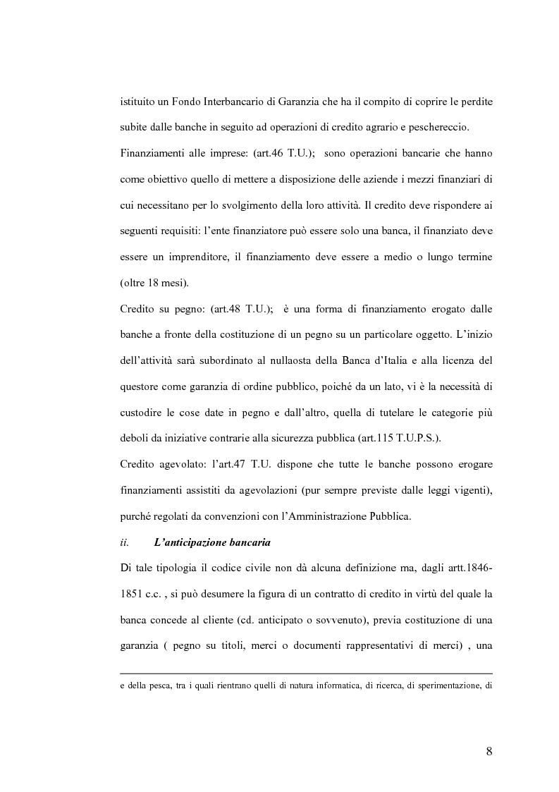 Anteprima della tesi: Il Jus Variandi nei contratti bancari di finanziamento, Pagina 11
